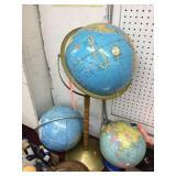 Globe on wood stand