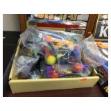 Miniature billiard balls & McDonalds toys