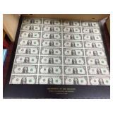(32) uncut $1.00 sheet