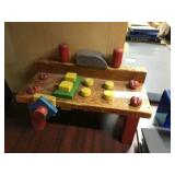 Playskool wood toy work bench