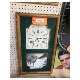 Whitetail decorator clock 14x24