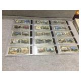 (15) historical events $2.00 notes in plastic
