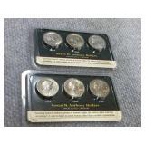 (6) Susan B Anthony dollars