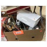 Foot pump, power strips & assorted