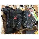 Baseball gloves & chest pad