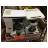 Assorted coffee makers