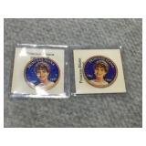 Colorized 1 penny Princess Diana