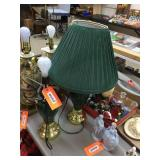 Pair of lamps with shades 27 inches tall