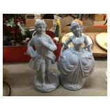 Pair of Crownford Figural decorators 8 inches