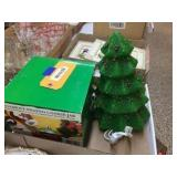 Ornament shaped cookie jar & 12 inch tree
