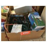 Outdoor power strip, extension cords & assorted