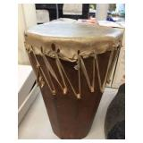 Wood drum 8 inch diameter x 12 inches tall