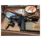 Glue gun, bbq tools & assorted