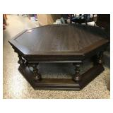 "Octagon coffee table 41""x16"""