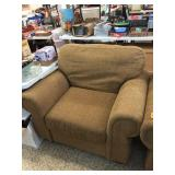 Over stuffed upholstered chair