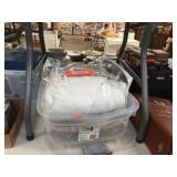 Tote with COVER / twin sheets / mattress pad /