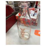 Winnebago Farm dairy glass milk bottle