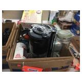 Box of assorted kitchen items