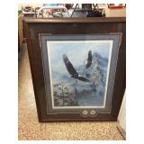 "Framed ""Soaring the Peaks"" medallion edition by"