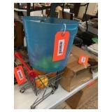 Miniture shopping cart / decorator fruit / plastic