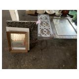 Mirrors and wall hanging