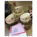 Cups saucers and plates