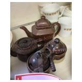 Tea cream and sugar crock ware