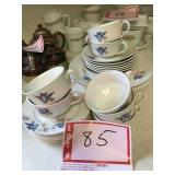 Bluebird cups saucers and plates