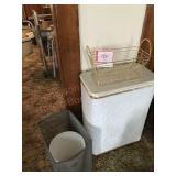 Hamper and ornamental basket for bathroom