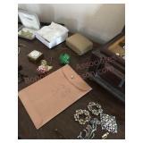 Jewelry box, jewelry, pipe, bolo tie