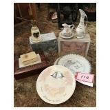 Anniversary celebration plates in ceramics