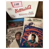 Collection of Christmas LPs Elvis Glen Campbell