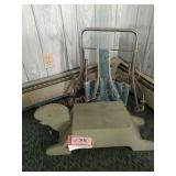 Childs turtle step stool and roll around
