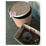 Wooden box and oil lamp parts