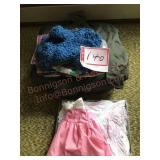 Heavy winter coat and child clothes