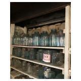 Large glass jar assortment including half gallons