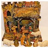 #6 Vintage Creche Display c. 1940s