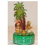 30 Tin Litho Music Box: Hula Girls