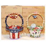 60 Two Jim Shore Holiday Basket
