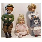 99 Three Dianna Effner Porcelain Dolls