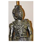 9a  Chalkware Knight In Armor Lamp