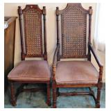 17a Six Oak Dining Chairs