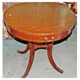 26  Vintage Drum Table