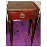 77a  Vintage Mahogany One Drawer Stand