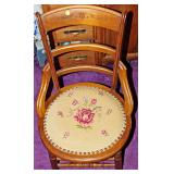 80  Eastlake Side Chair w/ Needlepoint