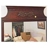 86  Vintage Mahogany Wall Mirror