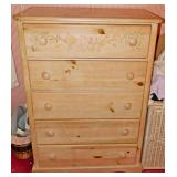 89  Cottage Style High Chest