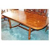 17  Oak Marquetry Dining Table