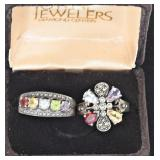 121a  Four Sterling & Gemstone Rings