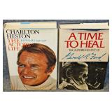 Lot 13 Gerald Ford, Charlton Heston Autographed Books